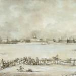 Вид Петербургской крепости и санных бегов, устраиваемых зимой на Неве