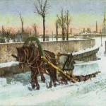 Стрелка Васильевского острова. Заготовка льда