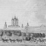 Вид на Смольный собор и Институт благородных девиц в Петербурге