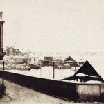 Набережная Невы на Васильевском острове зимой