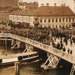 Открытие временного Египетского моста на Фонтанке