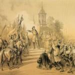 Пётр Великий возвещает в Санкт-Петербурге народу о заключении мира со Швецией
