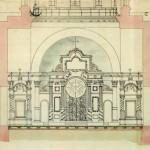 Сергиевский всей артиллерии собор. Разрез с видом на иконостас