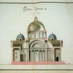 Знаменская церковь. Продольный разрез