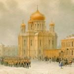 Парад перед Введенским собором