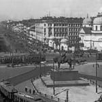 Вид площади Восстания и перспектива проспекта 25 Октября