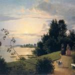 Вид на Елагином острове в Петербурге