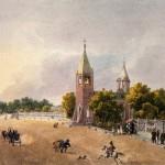 Вид на Каменноостровский проспект и церковь Иоанна Предтечи