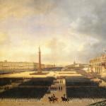 Торжественное освящение Александровской колонны на Дворцовой площади в Санкт-Петербурге 30 августа 1834 года