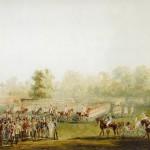 Парад на Масляном лугу перед Елагиным дворцом