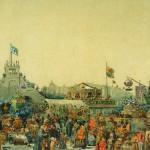 Балаганы на Адмиралтейской площади