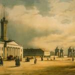 Вид Калинкинской площади и Старо-Петергофского моста