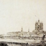 Вид на Смольный монастырь с Большой Охты