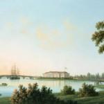 Вид Каменноостровского дворца с Выборгской стороны