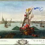 Вид от Адмиралтейства и Академии Наук вверх по Неве