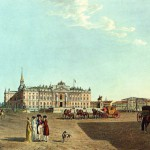 Вид Михайловского замка с площади Коннетабль