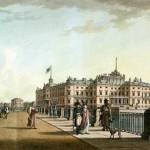 Вид Михайловского замка с набережной Фонтанки