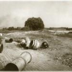 Осушительные трубы на пристани