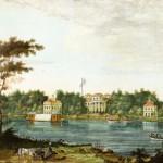 Вид на Елагин дворец с Каменного острова