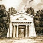 Вид Египетских ворот усадьбы графини С. В. Строгановой на Чёрной речке