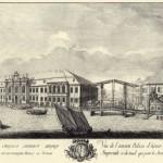 Проспект старого зимняго дворца с каналом соединяющим Мойку с Невою